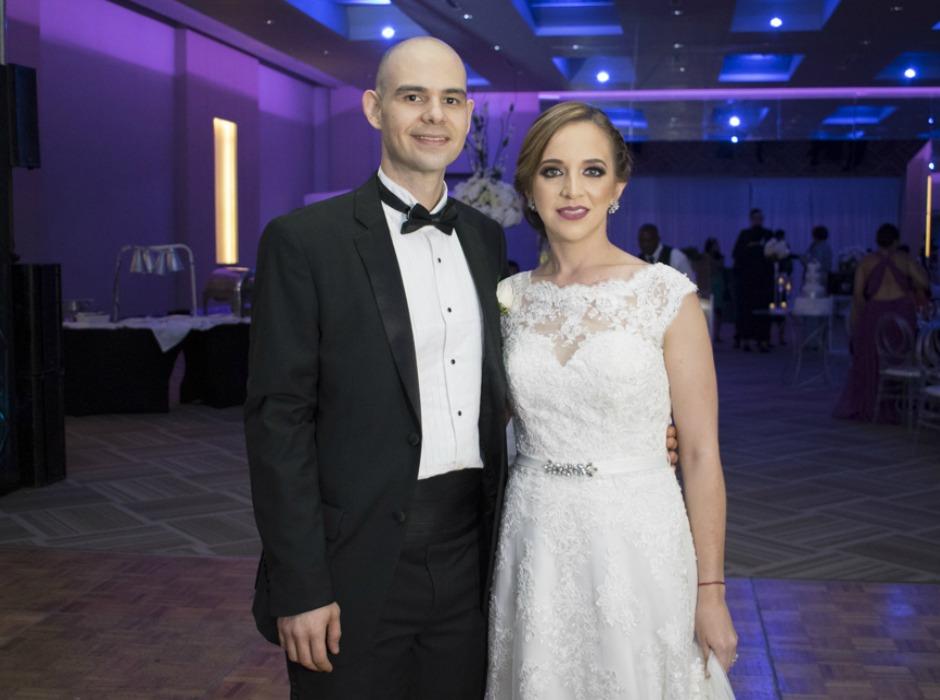 Stephanie Quiñónez y Miguel Antonio Banegas