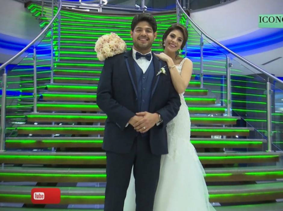 Óscar Delgado y Elena García se casaron en San Pedro Sula