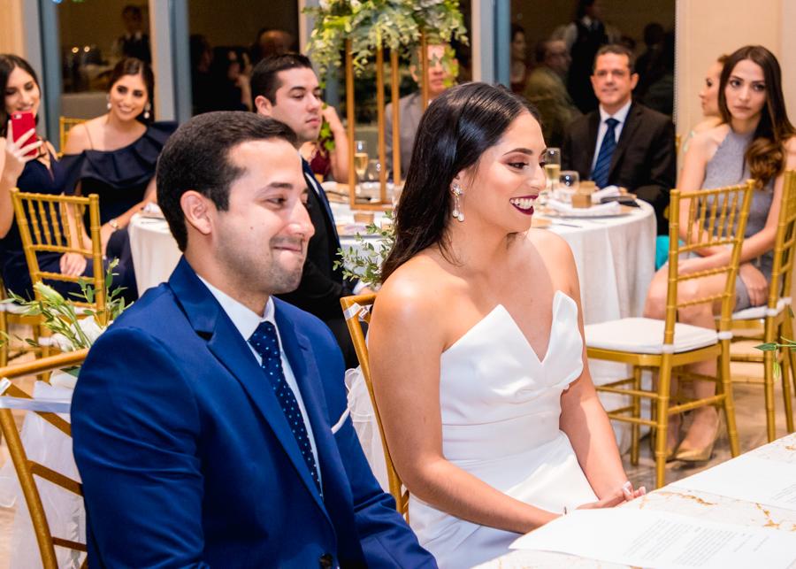 La boda civil de Sara Bográn y Héctor Bustillo